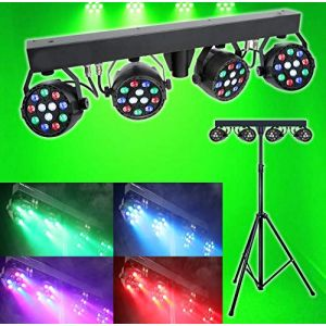 son Actif DMX LED par Effet de lumière disco Club DJ RGBW éclairage spot kit avec support (Vocal-Star Karaoke, neuf)