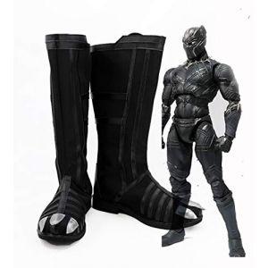 Captain America guerre civile Cosplay bottes panthère noire chaussures de Cosplay accessoires de héros chaussures de carnaval d'halloween 36 (sipingshihengdeshangmao youxiangongsi, neuf)