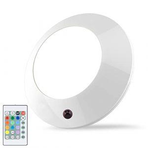 HONWELL Plafonnier LED à Piles Salle de Bains Éclairage Plafonnier Télécommandée Lumière LED de Plafond sans Fil pour Bain, Escalier,16 Couleur (honwell, neuf)