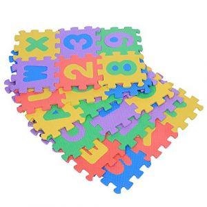 Tapis en mousse, tapis de jeu en mousse EVA souple 36 PCS avec couleurs, chiffres et lettres, tapis de ramassage pour enfants bambin bambin chambre bébé et jardin superyard, tapis d'accise puzzle (Exblue-eu, neuf)