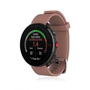 Bemodst Bracelet pour Polar Vantage M Smartwatch, Bande de Remplacement en Silicone Poignet Sangle de Sports Watch Accessoires pour Polar Vantage M Montre Intelligente (Café) (LiQian Tech, neuf)