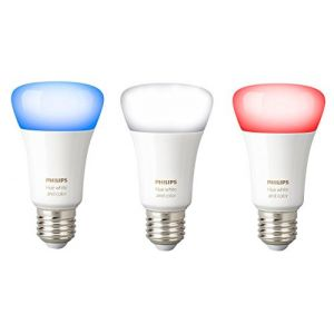 Philips Hue Lot de 3 Ampoules connectées White and Color E27