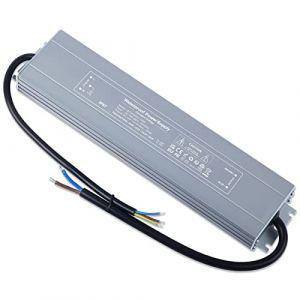 YAYZA! 1-Paquet Adaptateur ultra-mince compact pour pilote LED basse tension Étanche IP67 24V 6.5A 150W universel pour alimentation intérieur/extérieur à découpage CA/CC (ClickBuy Group, neuf)