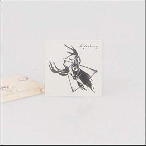 Autocollants de tatouage [10 paquets] imperméables pour garder le temps long tête de cerf d'encre peints à la main comme le montre la figure 7x7cm (KunZhiZeDianZiShangWu, neuf)