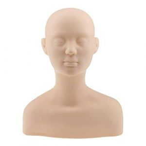 Tubayia Professionnel Tête de Mannequin Silicone Massage Mannequin pour Acupuncture Massage Formation (Tubayia, neuf)