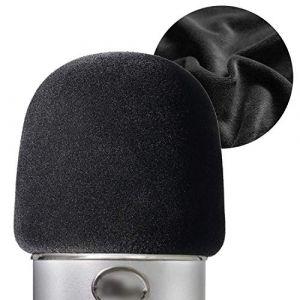 YOUSHARES Filtre en Mousse le Flocage pour Blue Yeti Microphone, Blue Yeti Pro Micro Anti Vent Plus Épais Bonnette Comme Pare-Brise Efficace Enlever les Bruits (Heartorigin Direct, neuf)