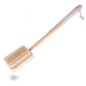 Loofah Brosse pour le dos, avec manche – Brosse de bain avec éponge brosse dos et manche amovible – avec éponge (KICCOLY(EU) LLC, neuf)