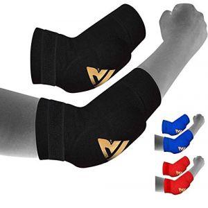 RDX Boxe Soutien Coude MMA Coudière Tendinite Musculation Protection Sport Kontact - Noir/Rouge - S (RDXINC LTD, neuf)