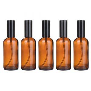 TOPBATHY 5 Pcs Vide Verre Pompe Bouteilles Lotion Distributeur Vide Bouteille Parfum Distributeur pour Émulsion Shampooing Lavage de Corps 100 Ml Presse (Wondy, neuf)