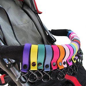 Chariot bébé Crochet(2 paquets) - parfait pour la poussette, le fauteuil roulant, le crochet de voiture pour bébé Walker - jogging, à pied ou à faire des courses, sac à couches pour bébés (Eamasawa, neuf)