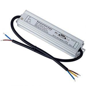 YAYZA! 1-Paquet Adaptateur ultra-mince compact pour pilote LED basse tension Étanche IP67 12V 2.5A 30W universel pour alimentation intérieur/extérieur à découpage CA/CC (ClickBuy Group, neuf)