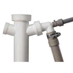 Xavax Kit tuyau d'évacuation (7pièces comprenant?: Siphon Tuyau d'évacuation 1,5m Tuyau Pinces Valve anti-retour connecteur à condensateur pour Sèche-linge –
