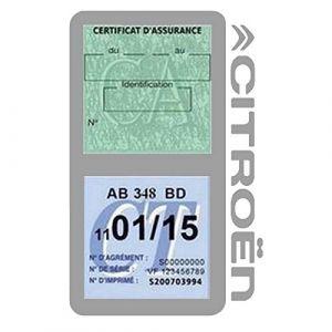 Générique Étui Double Assurance Citroën Gris Porte Vignette adhésif Voiture Stickers Auto Retro (Stickers-auto-retro, neuf)