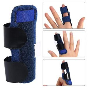 Attelle de doigt, déclencheur de soulagement de la douleur réglable Attelle de fixation du doigt redressant le support de bras de correcteur (Jackskinge, neuf)