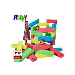 RIWI 12 Blocs de Construction en Mousse XXL | Grands Blocs de Construction Mous | Certifié TÜV Autriche | Qualité de la Mater (RIWI build it, neuf)