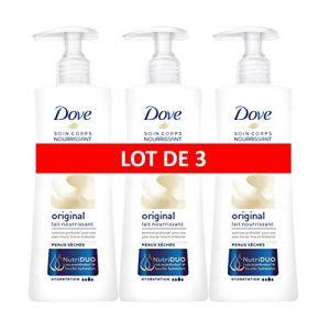 Dove Original Lait pour le Corps Hydratant, pour les Peaux Sèches (Lot de 3x250 ml) (D&C, neuf)