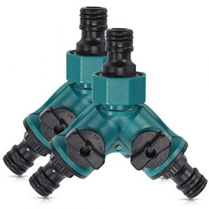 SUNSK Séparateur Tuyau d'arrosage 2 Voies Répartiteur Adaptateur pour Robinet avec séparateur en Y 3/4 Pouces Hose Connector 2 pièces (SCXEU, neuf)
