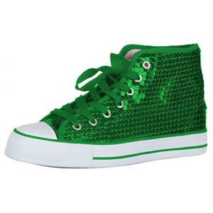 Brandsseller Baskets à paillettes pour enfant - Vert - vert, 29 EU (brandsseller, neuf)