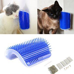 Tpocean - Peigne de Toilettage et Massage pour chat, courbé, Avec Herbe-aux-chats (fgjhrxc7yx5jg, neuf)