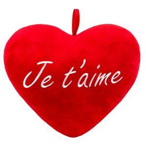 BRUBAKER Cœur en Peluche Je t'aime Rouge 32 cm (BRUBAKER (Der Schnellversender!), neuf)