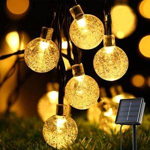 Guirlande Solaire, Oxyled 30 LED Jardin terrasse extérieur Guirlande lumineuse, imperméable, intérieur/extérieur Guirlande lumineuse, Excellent Jardin terrasse Patio extérieur lumières de Noël (TSMART, neuf)