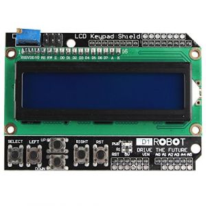 HALJIA 1602 LCD Display Module with Keys LCD Keyboard Keypad Shield Board Compatible avec Arduino UNO R3 MEGA2560 Nano (Hengjiaan, neuf)