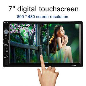KKmoon 7 inch Universel 2 Din HD Voiture Autoradio Lecteur Bluetooth DVD USB / TF /FM / MP5 Aux In avec HD caméra de recul écran tactile (Camsoo, neuf)