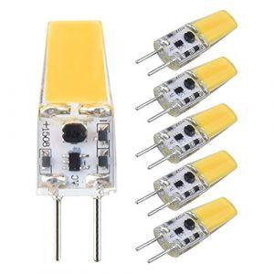 Bonlux Ampoules à LED G6.35 3 W AC/DC 12 V Blanc chaud 3000 K Bi-Pin JC Type Ampoule à capsule remplacement de l'ampoule halogène 25 W 30 W GY6.35/G6.35 (non dimmable) (Yuqianshop, neuf)