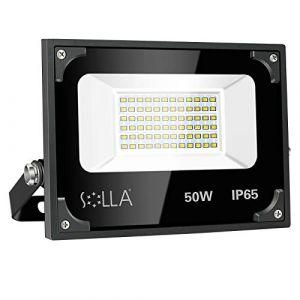 50W Lampe de Sécurité, 4000 Lumen LED Lumière d'Inondation, 5000K Blanc Neutre, Projecteur de Paysage Extérieur pour Jardin, Garages, Toit-terrasse, Patio (Arctic lighting, neuf)