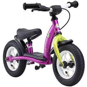 Bikestar Vélo Draisienne Enfants pour Garcons et Filles DE 2-3 Ans ? Vélo sans pédales évolutive 10 Pouces Classique ? Berry & Blanc (Star-Trademarks-Shop, neuf)