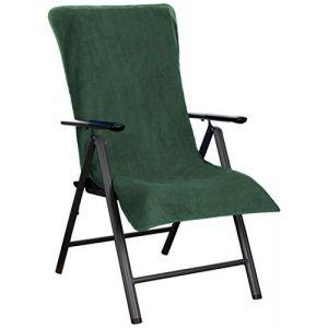 Brandsseller Housse de Protection en Tissu éponge pour Chaise de Jardin et Chaise Longue 100% Coton Vert foncé (brandsseller, neuf)
