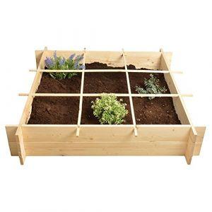 Esschert's Design B1012 Jardinière carrée en bois