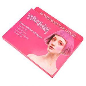 Lechnical 10 couleur temporaire cheveux craie cadeau ensemble pour les filles non-toxique portable coloration des cheveux craie stylos lavable teinture pour les cheveux Crayon (Leepus, neuf)