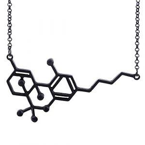 Merssavo Chimie Tous Les Jours Noir Serotonin Collier Serotonine Molécule Collier Femmes Bijoux (styleinside-uk, neuf)