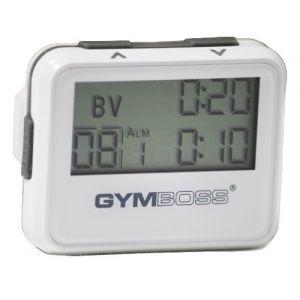 Gymboss Minuteur d'intervalle et chronomètre – BLANC MÉTALLISÉ / GRIS (Gymboss EU, neuf)