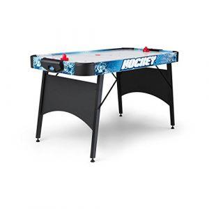 """OneConcept Polar Battle Table de air Hockey 6"""" Jeu de Palet (avec Ventilation silencieuse, 2 Raquettes, 2 palets, Compteur de Points, Pieds Anti dérapants) - Noir (Electronic-Star-FR, neuf)"""