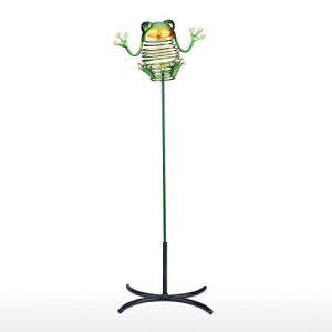 Rantoloys 16,9grenouille pieu fer pieu animal bâton détachable avec base jardin ou cour décor pot de fleurs ou bureau déco (Hashoo, neuf)