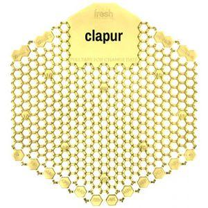 Écran pour urinoir Clapur (2 pièces) avec parfum citron, indicateur de remplacement et protection contre les projections, pour chaque pissoir et urinoir, angulaire, jaune (FA-Trade, neuf)