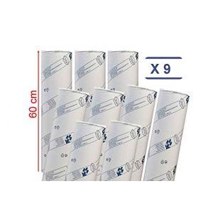 déliktess® - Drap D'examen Ouate Luxe 60 cm - 9 rouleaux - gaufré - Dimension 60x35cm (MFB Provence, neuf)