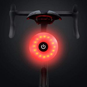 WASAGA Feu arrière de vélo, Avertissement étanche Rechargeable LED USB 5 Modes lumière arrière (Rouge) (WASAGA, neuf)