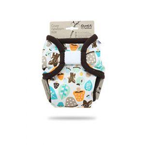 Culotte de Protection Petit Lulu | Naissance | Fermeture Auto-Agrippante | Réutilisable & Lavable | Étanche | Couches Lavables | Fabriqué en Europe (Mushrooms) (Petit Lulu Cloth Nappies, neuf)