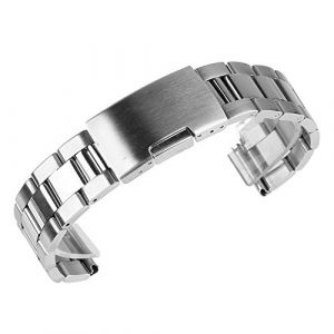 Beauty7 Bracelet du Montre 26mm Bande du Montre Boucle Deployante en Acier 304 Remplacement Bande de Poignet L'epaisseur 3.2 mm Argente Homme Femme (WEIMOB, neuf)