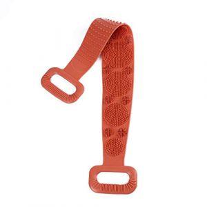 Silicone dos épurateur doux Loofah serviette de bain brosse ceinture corps exfoliant Massage pour douche corps nettoyage salle de bain douche sangle Orange (shijiahui, neuf)