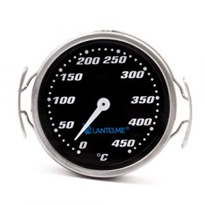 Thermomètre pour barbecue/fumoir/fumoir/barbecue. Analogique/bi-métal/Inox. Barbecue Accessoires modèle Lantelme Racing Black Edition (lantelmegmbh, neuf)
