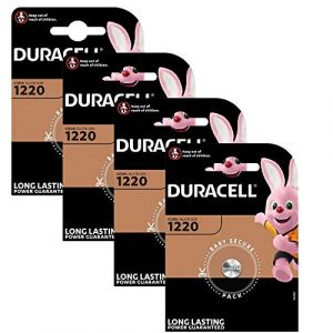 Duracell CR1220 Lot de 4 piles bouton Lithium 3 V (Go Green Batteries FR, neuf)