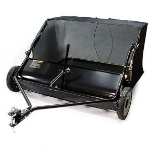 Balai ramasseur Balayeuse Tondeuse autoportée Largeur 120cm et Roues en caoutchouc 266x60,3cm (WilTec GmbH, neuf)