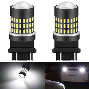 KATUR 3157 3047 3057 3155 3156 Ampoule à LED 900 Ampoules 3014 Ampoule 78SMD à LED pour feu Stop Clignotant feu de recul, Blanc Xenon (Pack de 2) (KAtur, neuf)