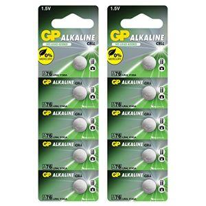 Piles bouton LR44 (A76 / AG13) 10 pcs. Multi-pack, produits de marque GP [1.5V - Sans mercure] (Generous Relax, neuf)