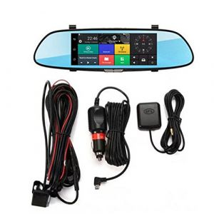 H10 voiture DVR 3G Rearview Mirror Video Recorder 7 pouces à écran tactile 1080 FHD double caméra Bluetooth Transmission FM-main libre (DailyinFR7shop, neuf)