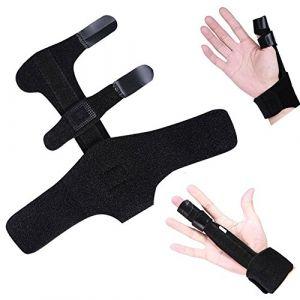 Outils en aluminium d'aide de blessure de protection de contreventement d'appui de main d'attelle de doigt réglable d'aluminium (Yotown-eu, neuf)